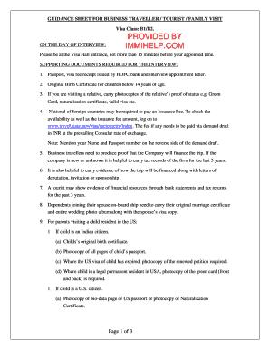 use of representative for family visa application
