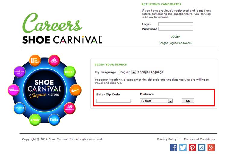 the shoe company online job application
