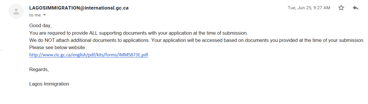cic application visit visa uci number