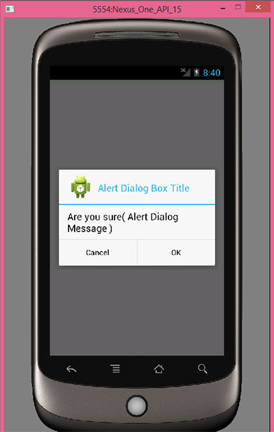 android alertdialog example application context