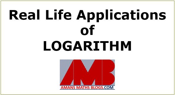 logarithm in the real world applications