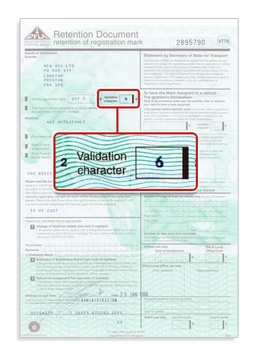 application for a vehicle registration certificate v5c