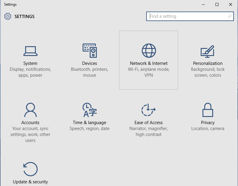 how to adjust application network access windows 10