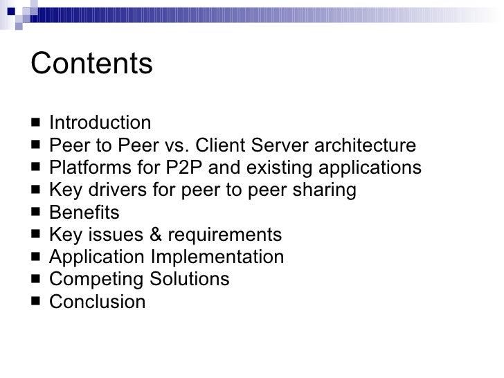 applications of peer to peer networking