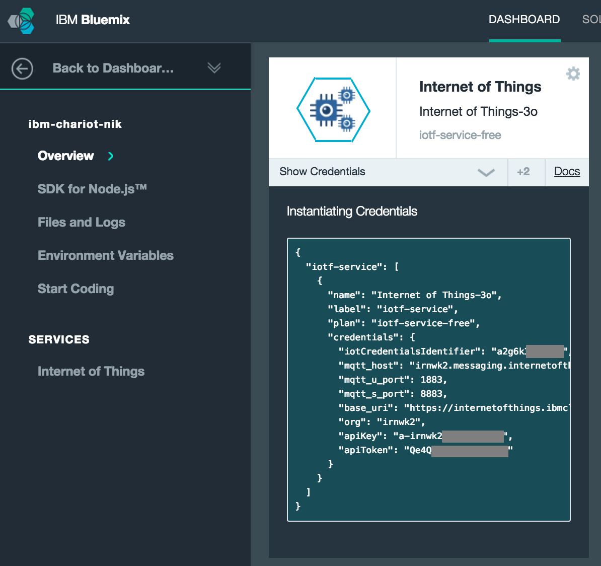 creating applications in ibm bluemix