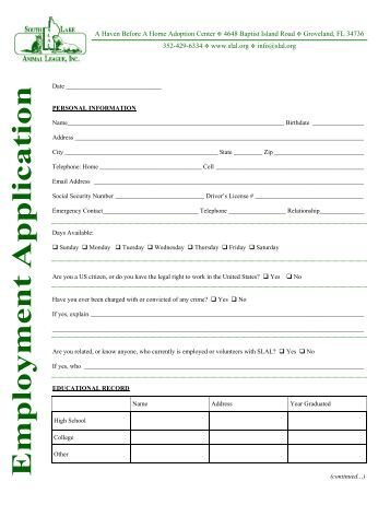 click here to fill out an application