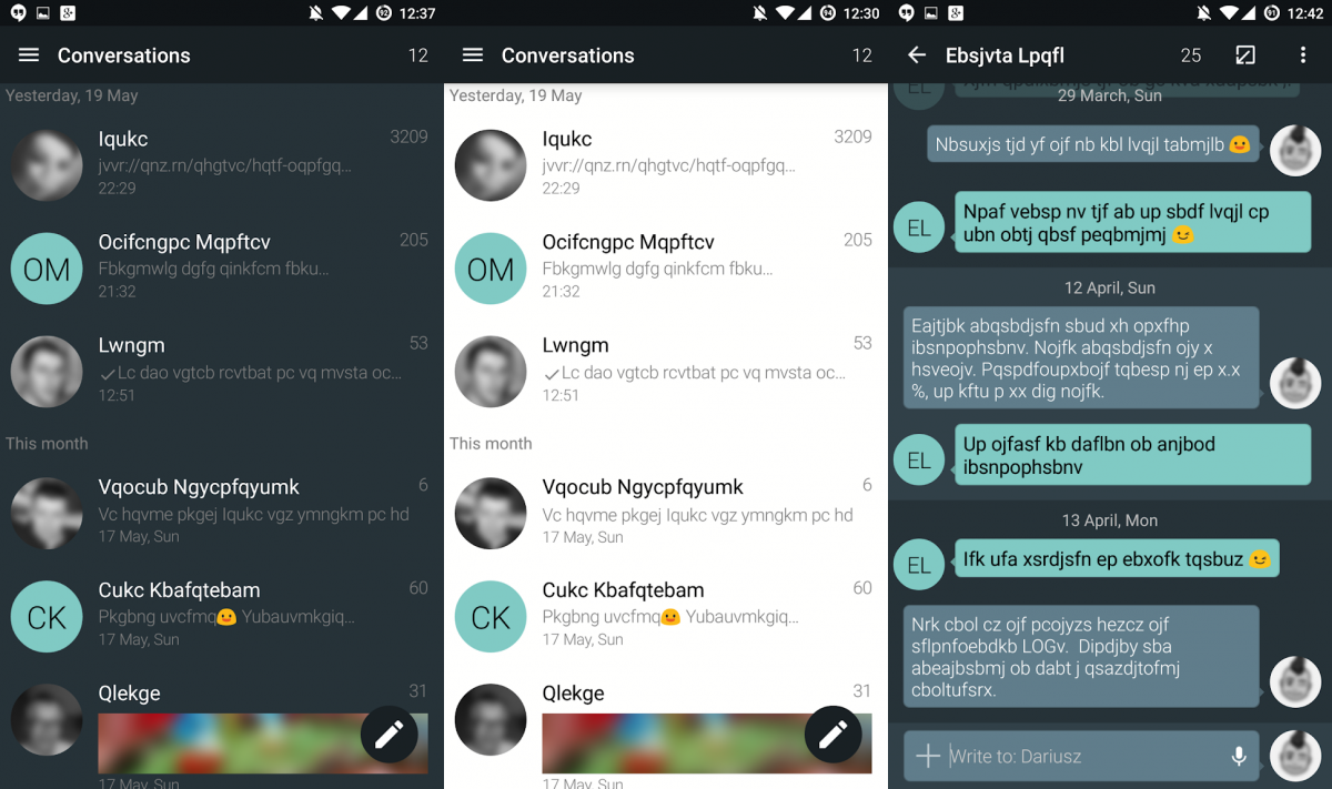 best text applications for android