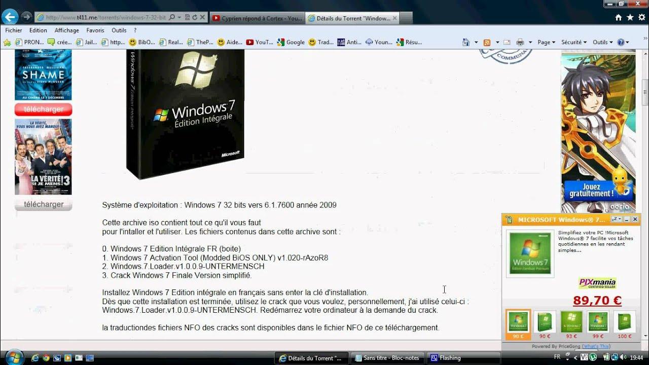 desactiver application demarrage windows 7