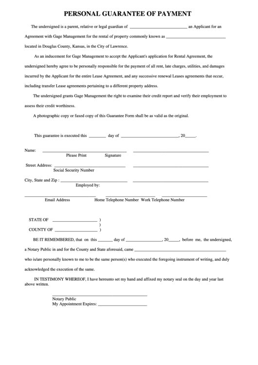 guarantor application form for mortgage