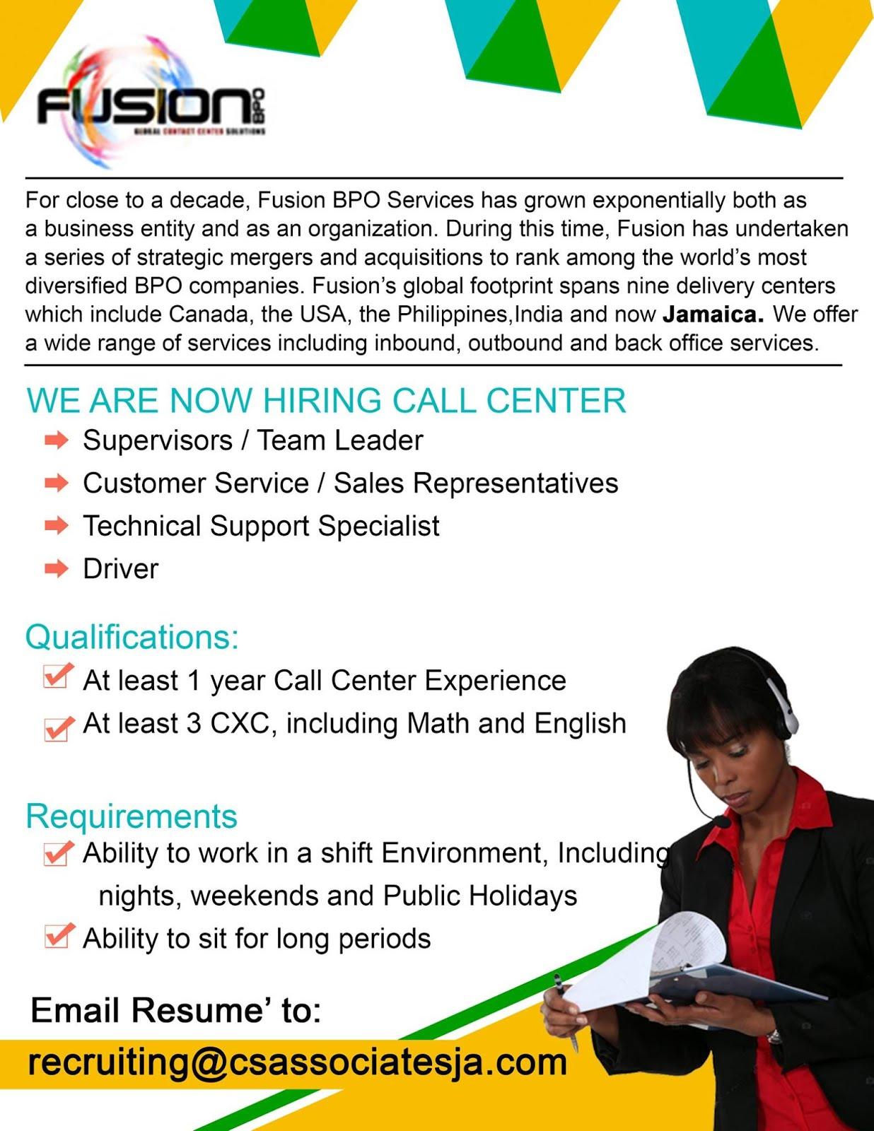 ios call center job application