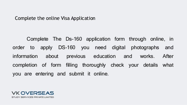 m1 student visa application form