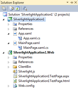 sample silverlight application with database