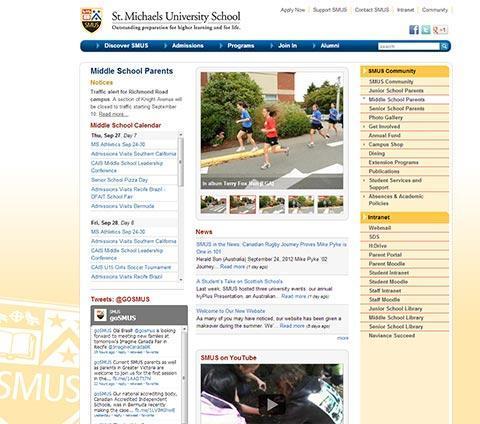 st michaels university school application