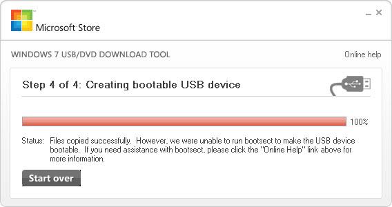 unable create application data folder windows 7